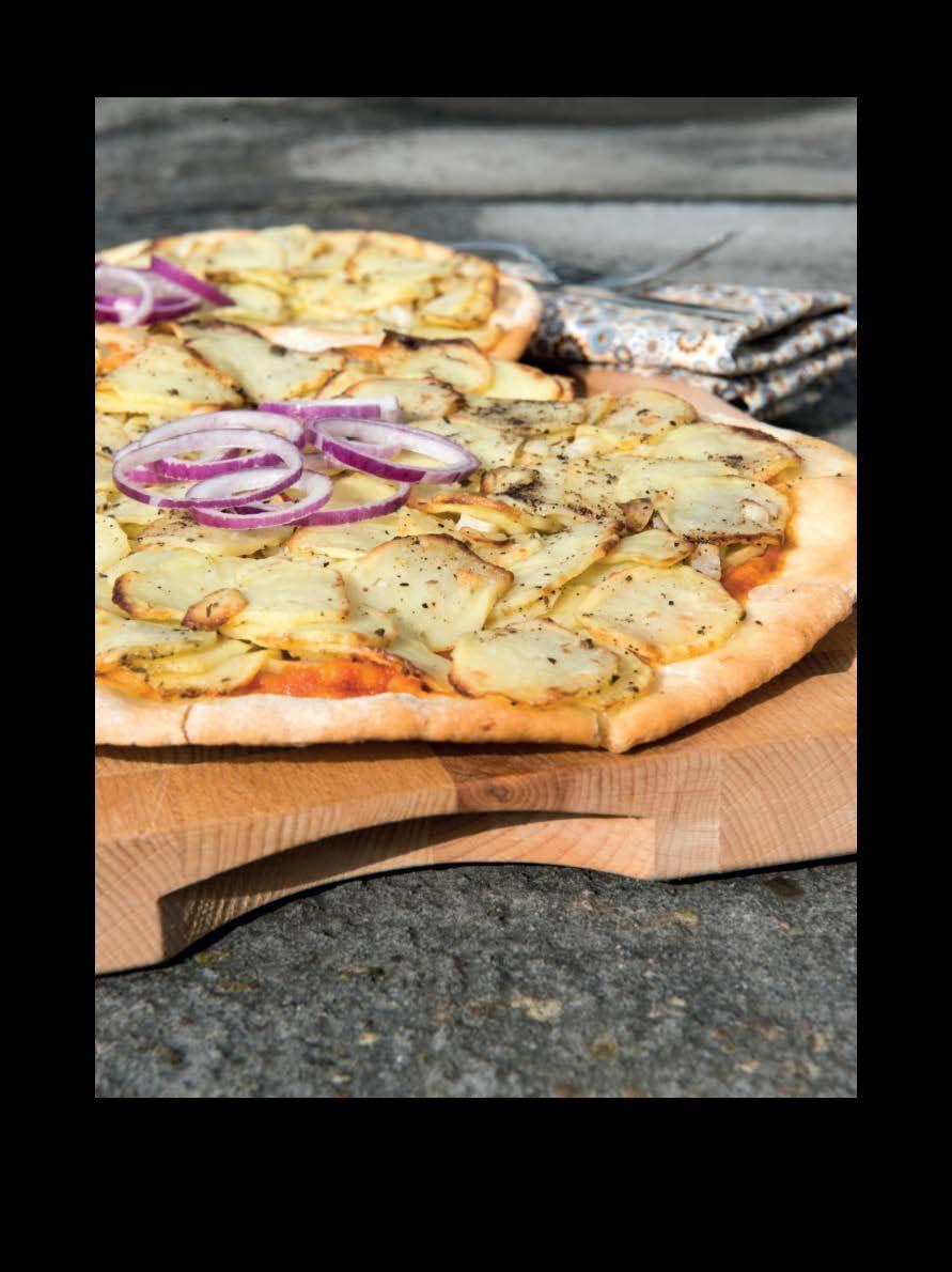 Dagen Zonder Vlees. Polenta-aardappelpizza