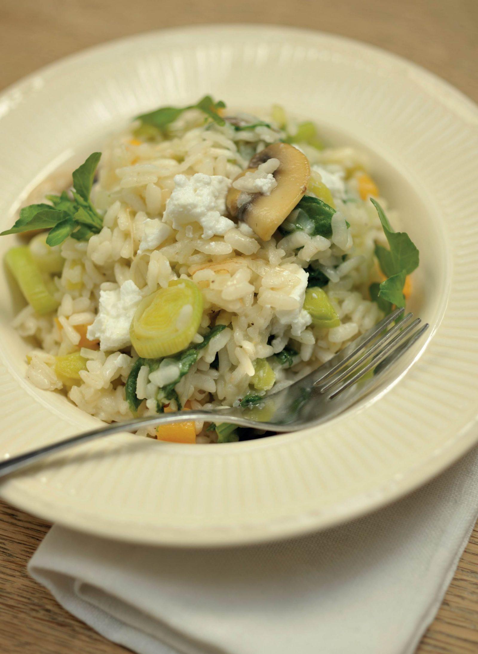 Video. Smeuïge risotto met winterprei en gesmolten geitenkaas uit 'Amigo's'