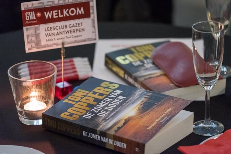 Nieuwe thriller van Toni Coppers met enthousiasme onthaald op Leesclub van Gazet van Antwerpen