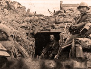 Dodengang - soldaten in abri