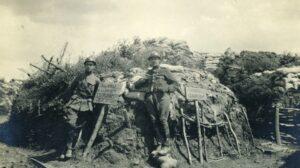 Dodengang - soldaten met bord Dodengang