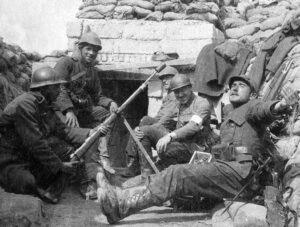 Dodengang - soldaten voor abri