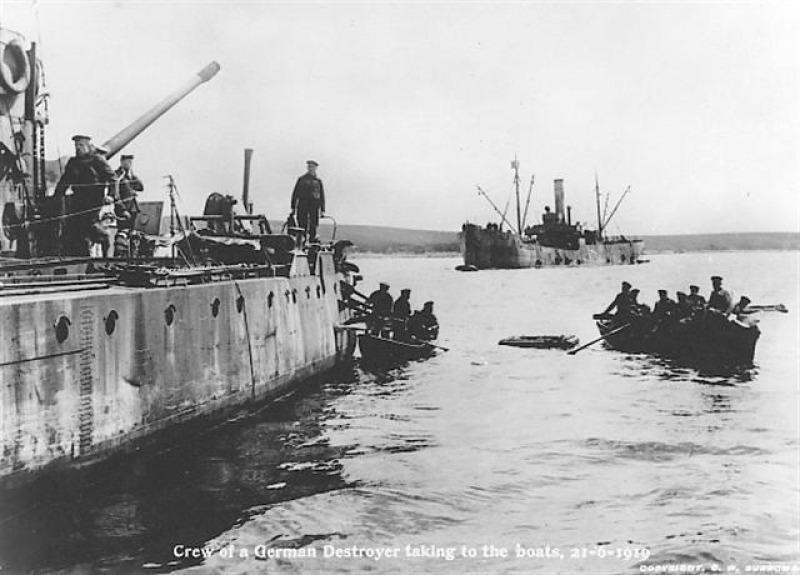 21 juni 1919. Het einde van de Duitse vloot