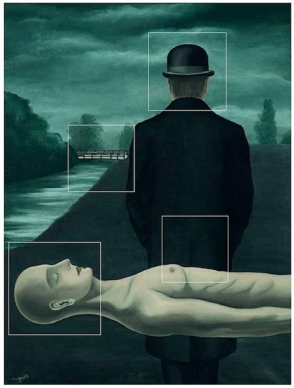 Zomerleesfragment. Magritte ontsluierd