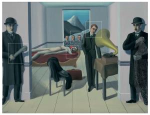 René Magritte -DE BEDREIGDE MOORDENAAR 1927 - © C.H.-ADAGP Paris, 2017