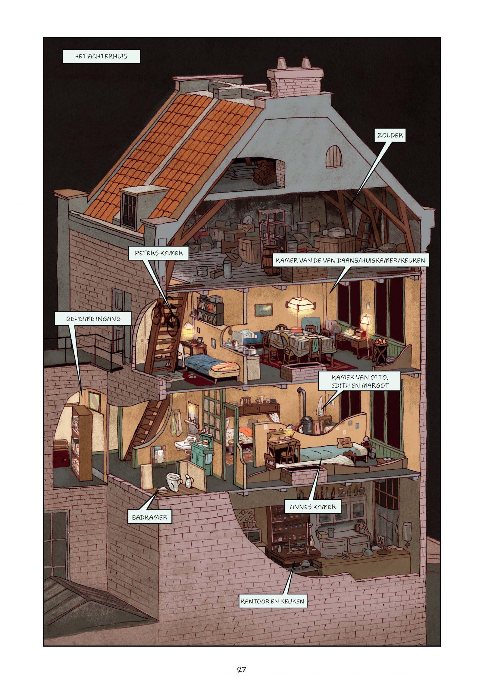 Pagina's van Frank-Het achterhuis_Graphic Novel 2e druk-8