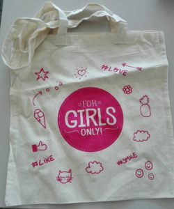 for girls only totebag